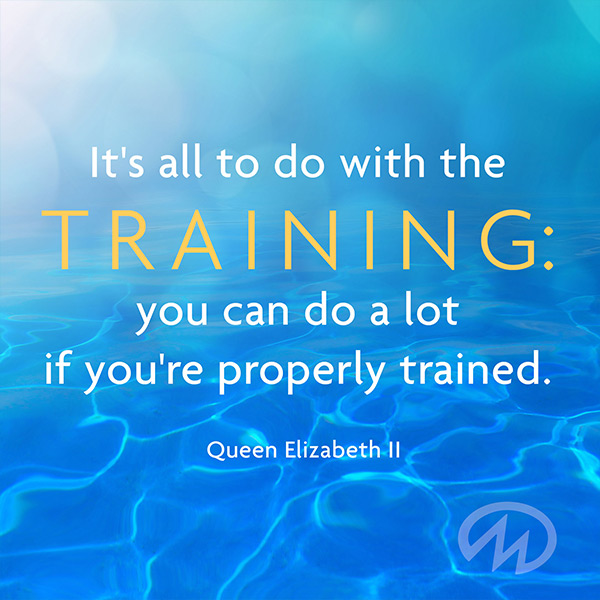 It's all to do with the trianing: you can do a lot if you're properly trained. Queen Elizabeth II